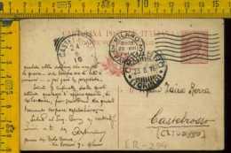 Regno Cartolina Intero Postale Milano Castelrosso Chivasso - 1900-44 Vittorio Emanuele III