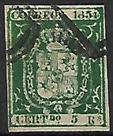 ESPAGNE    -    1854.     Y&T N° 26 Oblitéré  . - 1850-68 Regno: Isabella II