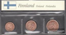 Finland FIN1- 3 Stgl./unzirkuliert Mixed Vintages Stgl./unzirkuliert 1999-2004 Kursmünze 1, 2 & 5 Cent - Finland