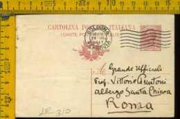 Regno Cartolina Intero Postale Bologna Roma - 1900-44 Vittorio Emanuele III