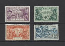 TOGO.  YT  N° 161/164   Neuf *  1931 - Togo (1914-1960)