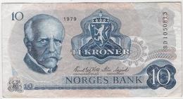 Norway 10 Kroner 1979 P-36c /016B/ - Norvegia