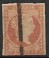ESPAGNE    -    1856.     Y&T N° 41 Oblitéré  . - 1850-68 Königreich: Isabella II.