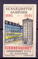 CINDERELLA ERINOFILO SEN GEUDSTYR  GARDINER 1945 FJERRENSERIET (GIUGN19C00012) - Erinnofilia