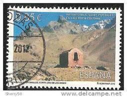 2012-ED. 4752 SERIE COMPLETA- INFRAESTRUCTURAS POSTALES. CASUCHA DE PARAMILLOS ( LOS ANDES )-USADO - 2011-2020 Usados