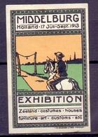 CINDERELLA ERINOFILO EXPOSITION HOLLAND MIDELBOURG 1913 (GIUGN19C00013) - Erinnofilia