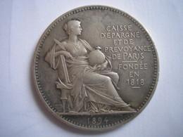 Médaille Argent De La Caisse D'épargne Et De Prévoyance De Paris - 1894 - Professionnels / De Société