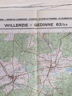 TOPOGRAFISCHE KAART / STAFKAART / CARTE D'ETAT MAJOR WILLERZIE - GEDINNE 63/3-4 - 1/25.000 M834 - 1985 - Cartes Topographiques