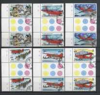 British Antarctic Territory (BAT) 1994 Transport, Aviation, Aiplanes, Fauna, Dogs Used With Gum - Territoire Antarctique Britannique  (BAT)