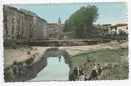 X121989 ARAGON HUESCA SOMONTANO DE BARBASTRO BARBASTRO BALBASTRO RIO VERO Y PUENTE DEL PORTILLO POSTAL COLORISADA - Huesca