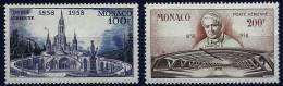 """Monaco Aerien YT 69 & 70 (PA) """" Apparitions De Lourdes """" 1958 Neuf** - Airmail"""
