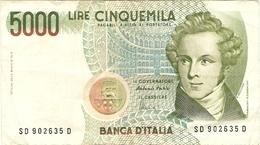 ITALIE  ---  5000 LIRE  ( V.Bellini ) 1985 - [ 2] 1946-… : République