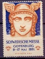 CINDERELLA ERINOFILO  SCHWEDISCHE GOTENBURG 1931 (GIUGN19C00017) - Erinnofilia