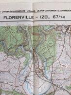TOPOGRAFISCHE KAART / STAFKAART / CARTE D'ETAT MAJOR FLORENVILLE - IZEL 67/7-8 - 1/25.000 M834 - 1983 - Cartes Topographiques