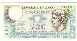 ITALIE  ---  500 LIRE 1976 ( Unc ) - [ 5] Schatzamt