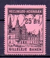 CINDERELLA ERINOFILO  HELSINGOR HORNBAEK GILLELEJE BANEN  (GIUGN19C00021) - Erinnofilia