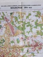 TOPOGRAFISCHE KAART / STAFKAART / CARTE D'ETAT MAJOR MOUSCRON 29/5 ZUID/SUD - 1/12.500 - 1993 - Cartes Topographiques