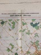 TOPOGRAFISCHE KAART / STAFKAART / CARTE D'ETAT MAJOR SINT-DENIJS 29/6 ZUID/SUD - 1/12.500 - 1993 - Cartes Topographiques