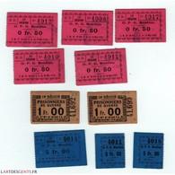 Lot De Ticket De Guerre O.P.G. MOULINS 13e REGION - Camera Di Commercio
