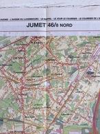 TOPOGRAFISCHE KAART / STAFKAART / CARTE D'ETAT MAJOR JUMET 46/8 NOORD/NORD - 1/12.500 - 1993 - Carte Topografiche