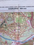 TOPOGRAFISCHE KAART / STAFKAART / CARTE D'ETAT MAJOR CHARLEROI 46/8 ZUID/SUD - 1/12.500 - 1993 - Cartes Topographiques