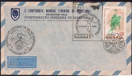 Brasil - 1957 - FDC - 2e Championnat Du Monde De Basket Féminin - Baloncesto