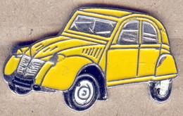 Pin's 2CV CITROËN Jaune N°15 Voiture Automobile - Citroën