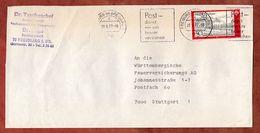 Brief, Postbetrug, Zusammengefuegte Europa, Bandstempel Post Damit Wir.. Freiburg, Nach Stuttgart 1977 (77404) - BRD