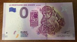 68 ALSACE MONTAGNE DES SINGES BILLET 0 ZERO EURO SOUVENIR 2019 BANKNOTE 0 ZERO EURO SCHEIN MONEY - Andere