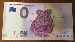 68 ALSACE NATUROPARC GRAND HAMSTER BILLET 0 EURO SOUVENIR 2019 BANKNOTE 0 EURO SCHEIN PAPER MONEY - Andere