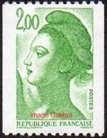 France N° 2487 ** Liberté De Gandon 2.00 Frs - Le Vert - - France