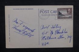 BERMUDES - Affranchissement Plaisant Sur Carte Postale En 1937 Pour Les Etats Unis - L 37761 - Bermudes