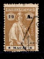 ! ! Macau - 1913 Ceres 12 A (Perf 15x14) - Af. 218 - Used - Oblitérés