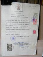 MONDOSORPRESA, (DC1) CERTIFICATO CITTADINANZA ITALIANA - CUNEO -  MARCA DA BOLLO - 1938 - CARTA BOLLATA 6 LIRE - Documenti Storici