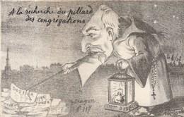 CPA Caricature Satirique Politique E. COMBES Séparation Eglise Etat Anti-Clérical Illustrateur (2 Scans) - Satiriques
