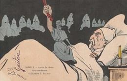 CPA Caricature Satirique Politique E. COMBES Anti-Clérical Homme D' Eglise  Illustrateur T. BIANCO (2 Scans) - Satiriques