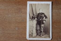 CDV Chasseur Belge Vers 1870  Chapeau à Plume Par Scheffermeyer - Guerre, Militaire