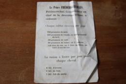 Guerre 1870 Affiche Le Princ EFrederic Charles Feldmarechal - Documenti Storici