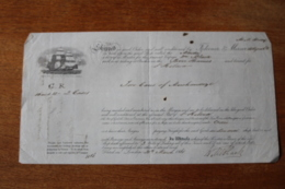 Bon De Transport Bateau 1861  Pour Ste Helene  Bateau MAIDA - United Kingdom