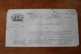 Bon De Transport Bateau 1861  Pour Ste Helene  Bateau MAIDA - Regno Unito