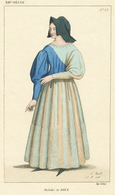 Antique Color Print 1860 Mabille De Riez Troubadour Raimond Mode Vogue Fashion Historical Costume - Prints & Engravings