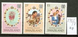 SWAZILAND - 375/7  Hochzeit Charles + Diana  Kpl.Ausg.postfrisch - Swaziland (1968-...)