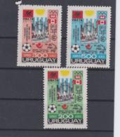 Uruguay 1974 FIFA World Cup Germany Football 3 Vals. MNH/** (H57) - Fußball-Weltmeisterschaft
