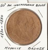 BELGIQUE - LEOPOL 2 -- Médaille En Bronze  1830/1880 - 50° Anniversaire De L'Indépendance Belge - 1865-1909: Leopold II