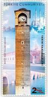 TURKEY / 2019 - HISTORICAL CLOCK-TOWERS (ADANA, BRIDGE, MOSQUE), MNH - Nuevos