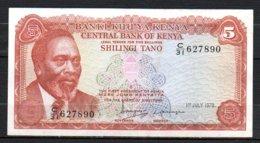 329-Kenya Billet De 5 Shillings 1978 C31 - Kenia