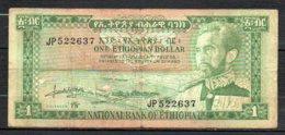 329-Ethiopie Billet De 1 Dollar 1966 JP522 - Etiopía