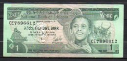 329-Ethiopie Billet De 1 Birr 1976 CE789 Sig. 2 - Etiopía