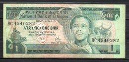 329-Ethiopie Billet De 1 Birr 1976 BC454 Sig. 1 - Etiopía