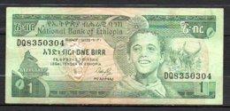 329-Ethiopie Billet De 1 Birr 1991 DQ835 Sig. 3 - Etiopía